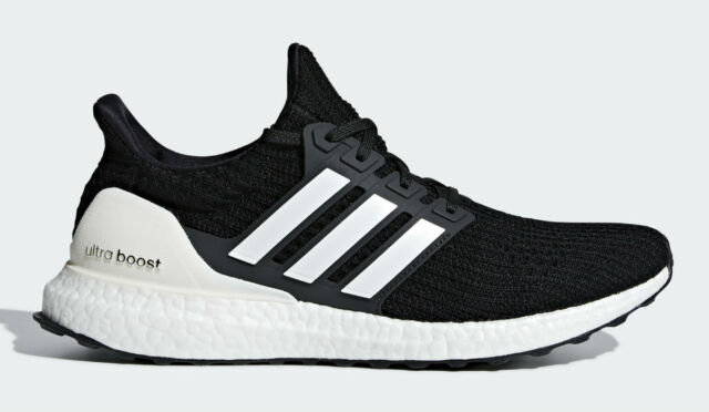 mens black and white ultra boost