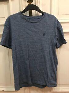 Polo-Ralph-Lauren-Rundhals-T-Shirt-T-Shirt-Blau-Gr-S-100-Cotton