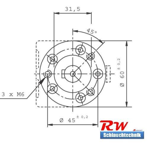 ähnlich OMM 40 39,8ccm Hydraulikmotor Ölmotor Orbitmotor SMM 40