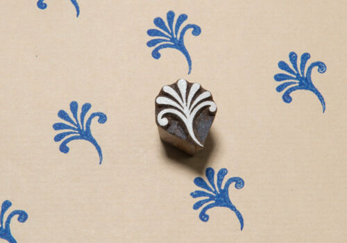 Small wood printing blocks Indian tiny Block Stamp textile block tiny flower