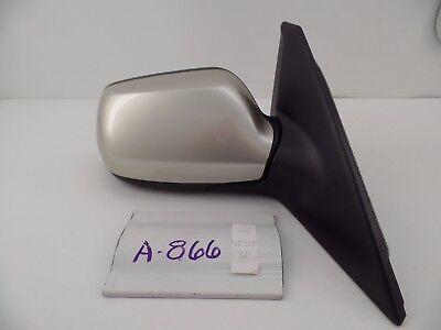 Fits 04-09 Mazda3 Left Driver Mirror Manual Remote Non-Painted Black