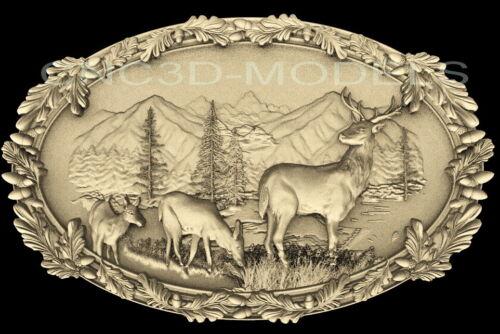 3D Model STL for CNC Router Artcam Aspire Deer Buck Hart Hunting Animal D225