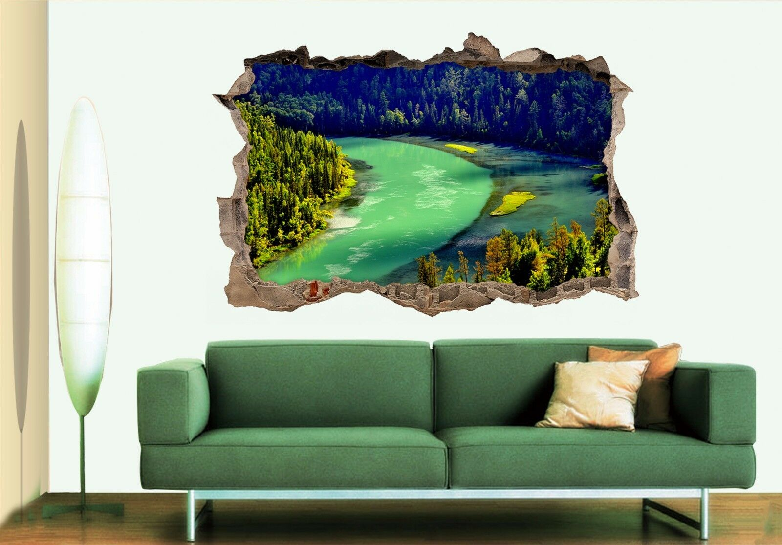 3D 3D 3D Bellissimo Lago 176 Parete Murales Adesivi Decal Sfondamento AJ WALLPAPER IT 848150