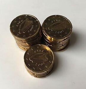 25 X 20 Cent Kursmünze Irland 2002 Harfe Euro Münzen 2 Rar Ebay