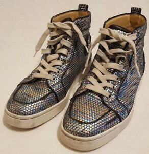 bd122a13f7c Image is loading Christian-Louboutin-Orlato-Sneakers-Shoes-Hi-Top-Rainbow-