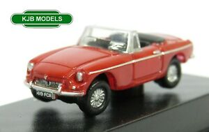 BNIB-N-GAUGE-OXFORD-DIECAST-1-148-NMGB001-MGB-ROADSTER-TARTAN-RED-CAR