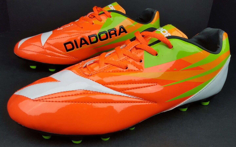 Diadora Men's Size 11 DD-NA2 orange Green Lace Up Cleats NWOB