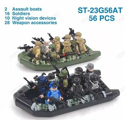 WW2 Military 10 Pcs Minifigures Japanese Army Soldiers Ships With Weapons Gun Le