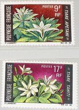 FRENCH POLYNESIA POLYNESIEN 1969 90-91 245-46 Flowers Blumen Pflanzen Flora MNH