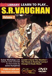 Brillant Apprendre à Jouer Stevie Ray Vaughan Guitar Technique Volume 2 Lick Librar 000393038-afficher Le Titre D'origine