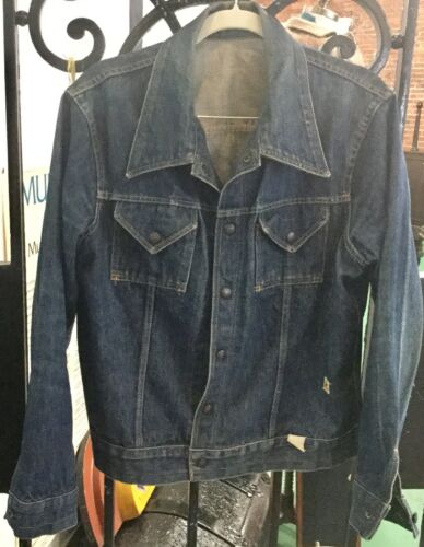Vintage Roy Rogers Blue Denim Jean Jacket Sz 40