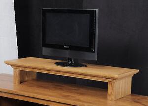 Tv Riser Stand Soundbar Stand Traditional Oak Crown Molding Ebay