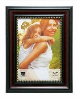 Kiera Grace Lucy Picture Frame, 5 By 7-inch, Dark Brown With Gold Beading , New,