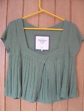 Abercrombie & Fitch Green Ladies Cardigan Size Large (Ref Z) Ex Con