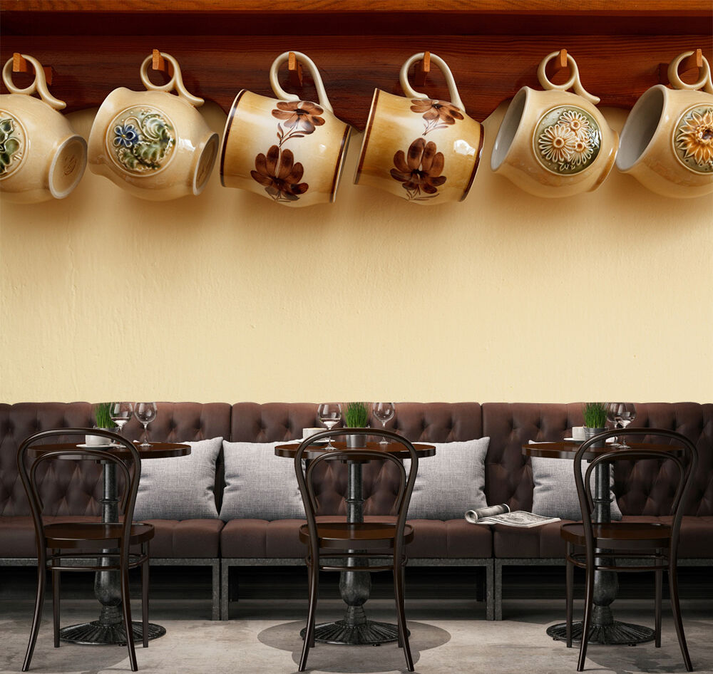 3D Cups, pattern 4565 Wall Paper Print Wall Decal Deco Indoor Wall Murals