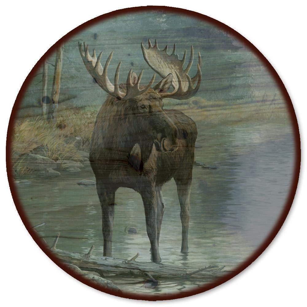 GTI-GALLERY Quiet eau Moose Lazy Susan, 18