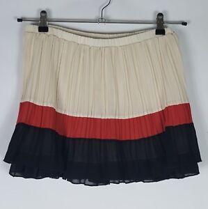 f60d7d789b Image is loading Zara-Accordion-Pleated-Mini-Skirt-Women-Flowy-Striped-