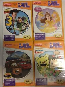 Fisher-Price-iXL-4-game-lot-Pixar-Toy-Story-Cars-2-amp-Princess-Nihao-Kai-lan-3-7