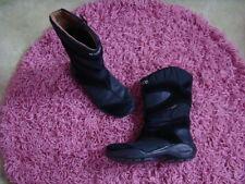 ECCO GORE TEX Leder Schuhe 28 Mädchen Übergang Winter Stiefel gefüttert schwarz