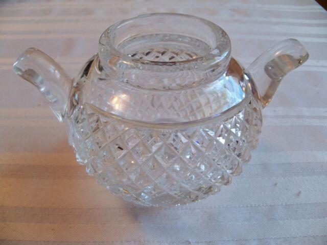 Antique American Brilliant Cut Glass Vase In Diamond Pattern Ebay