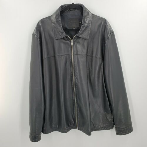 Coach Black Leather Jacket Soft Mens Size XL Moto