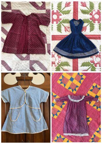Antique Primitive Calico Homespun Doll Study Dress