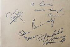 Queen Freddie Mercury Authentic Signed 1975 Full Set Of Signatures Brilliant!!