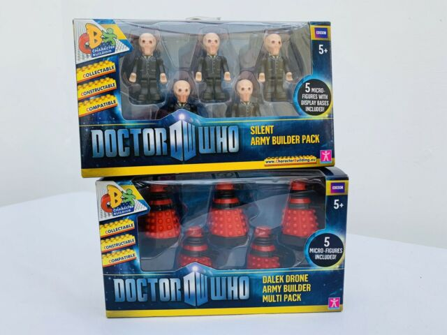 Doctor Who Character Building Dalek Drone Army & Silent army Builder Packs
