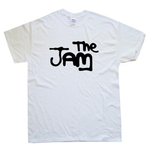 THE JAM T-SHIRT sizes S M L XL XXL colours Black White