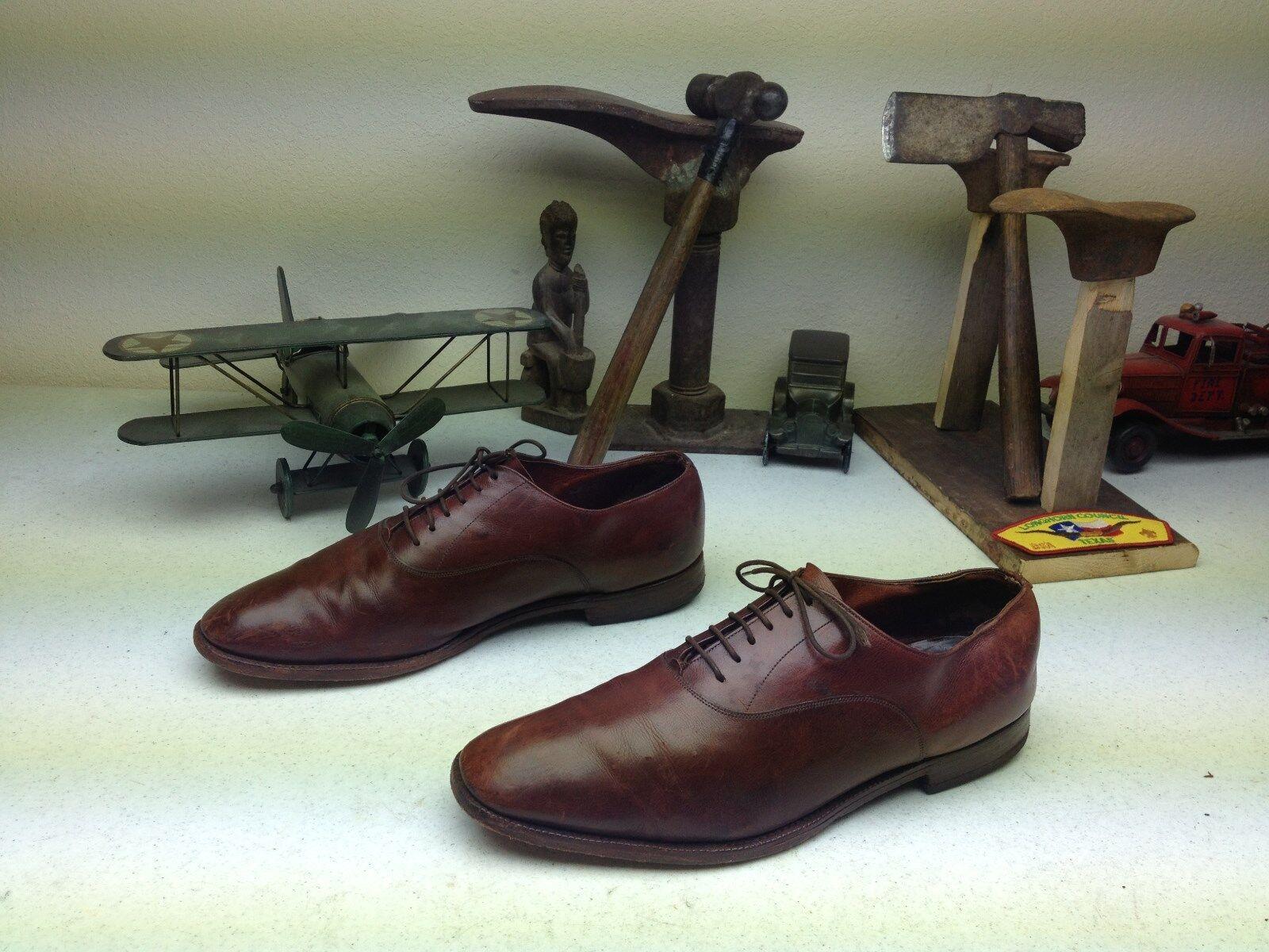 Hecho En Inglaterra Cognac De lazada Cuero Marrón lazada De Oxford sábado Zapatos M bd2ecf