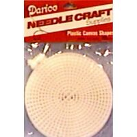 "10 PACK Darice CLEAR PLASTIC CANVAS 7 Mesh 4.5"" CIRCLES Count 4.5 INCH ROUND Craft Supplies"
