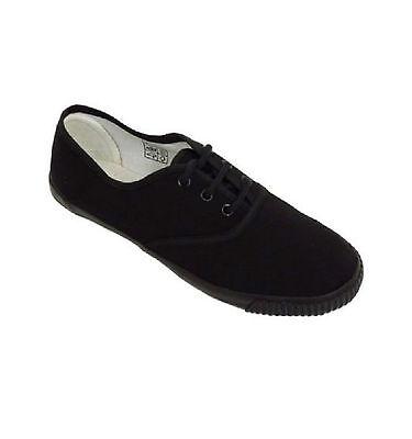 Boys Kids Canvas Shoes Trainers Sneakers Plimsols Pumps Size UK 8 9 10 11 12 New
