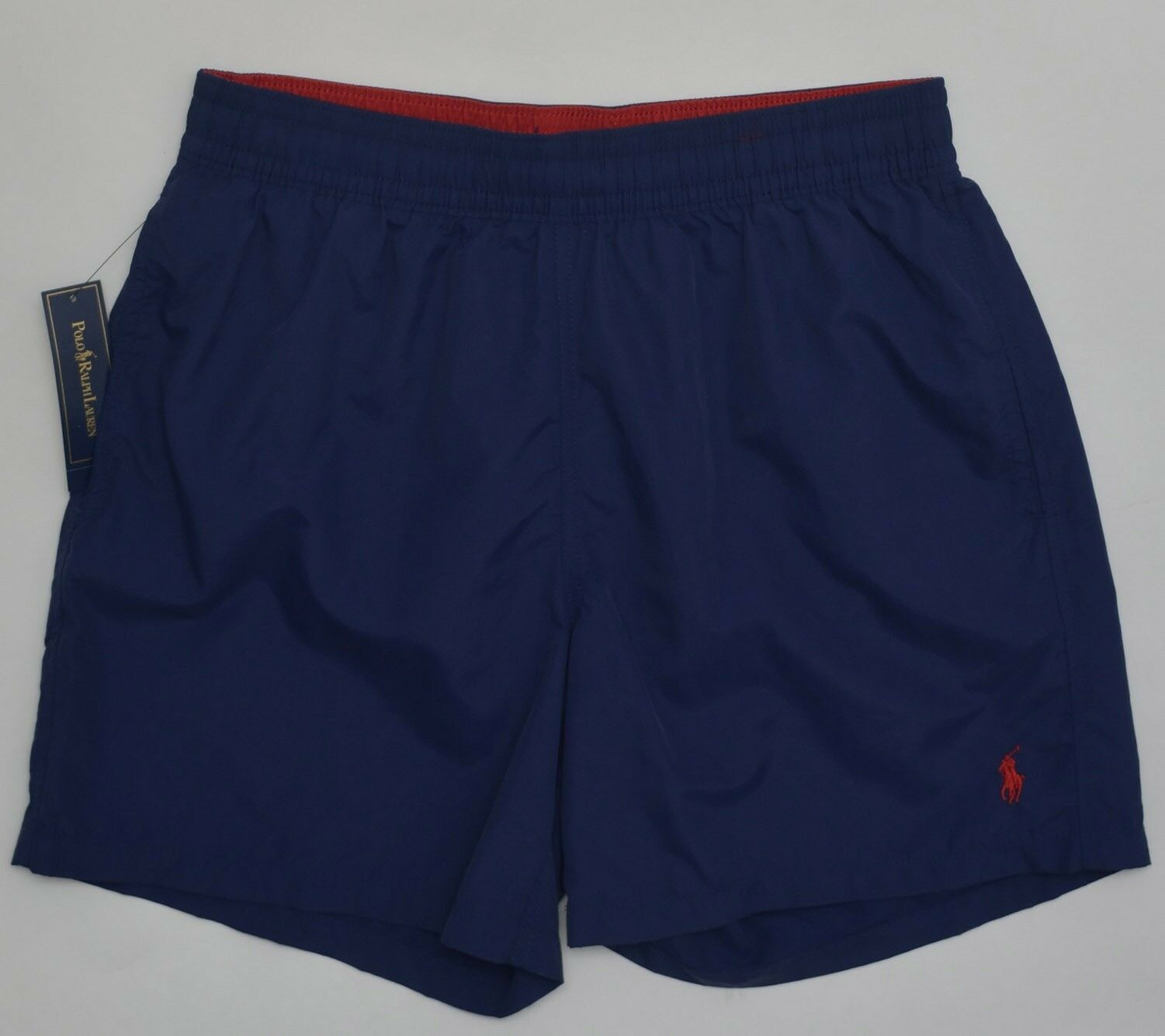 Men's POLO RALPH LAUREN Navy bluee Swimsuit Trunks XXL 2XL NWoT NEW 4187791 NICE