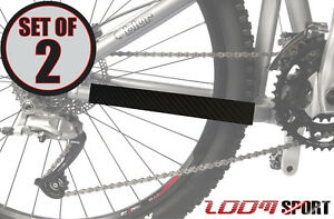 Zoom-Sport-Chain-Stay-Protector-Bike-Frame-Guard-Set-of-2-Black-Carbon