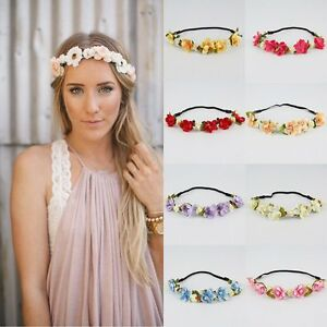 Fashion-Women-Girl-039-s-Flower-Head-Hollow-Elastic-Hair-Band-Headband-Wedding-Party