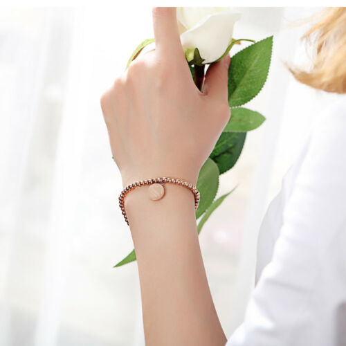 Kugel Armband Edelstahl Damen Mädchen Armkette Silber Rosegold Elegant Schmuck
