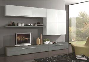 Parete attrezzata moderna porta tv plasma lcd soggiorno for Salotto casa moderna