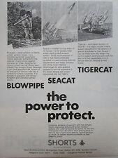 5/1977 PUB SHORTS MISSILES DIVISION SEACAT TIGERCAT BLOWPIPE ORIGINAL AD