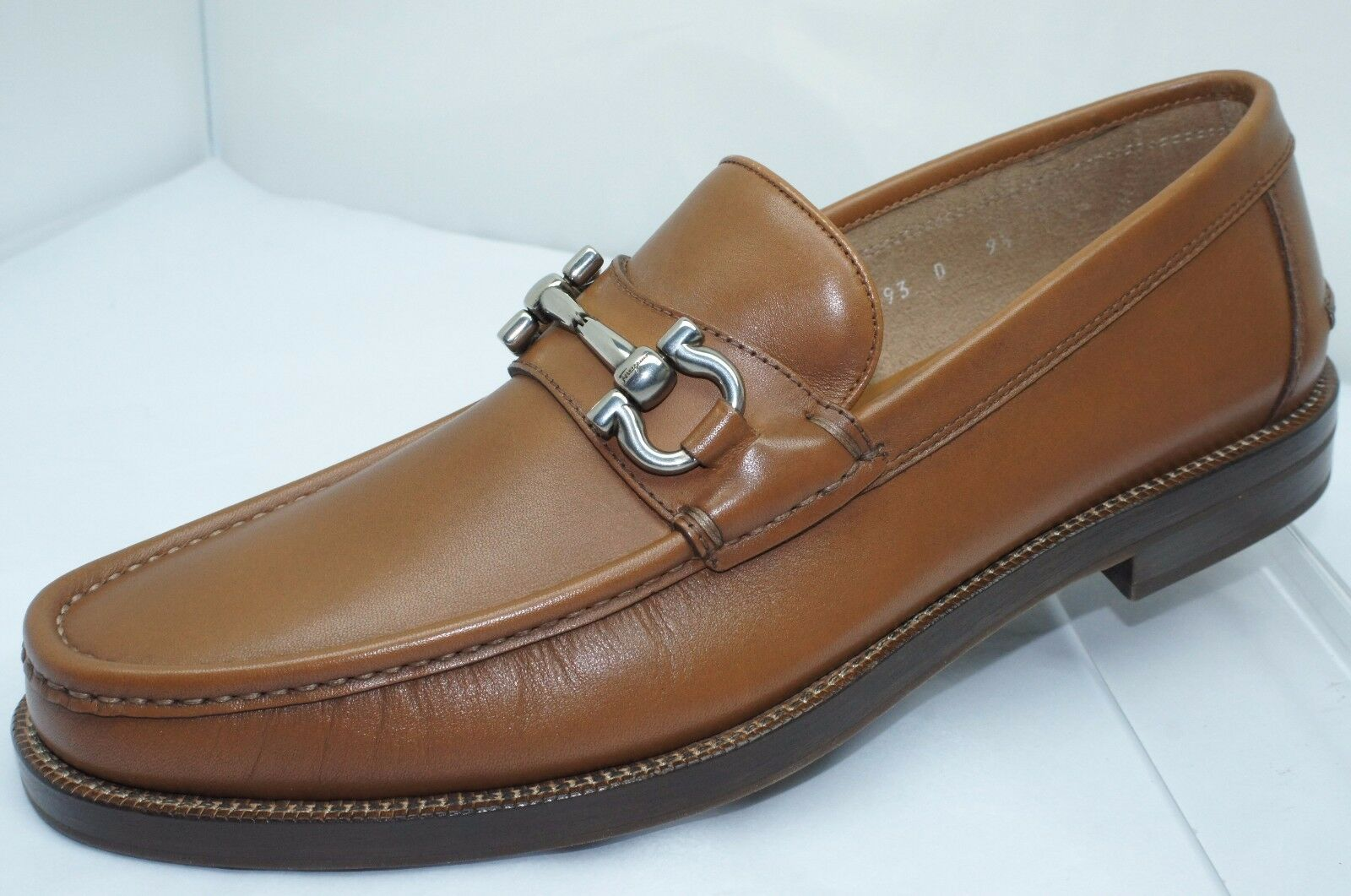 New Salvatore Ferragamo Loriano Men's shoes Brown Size 7.5 Loafers Drivers Sale