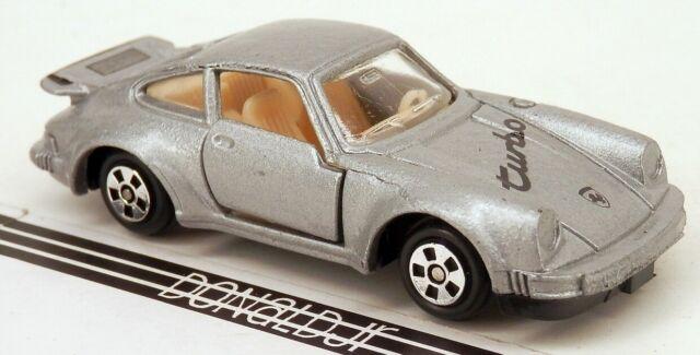 Vintage Soma Porsche 911 Silver Wturbo Look Spoiler 164 Scale Diecast Car