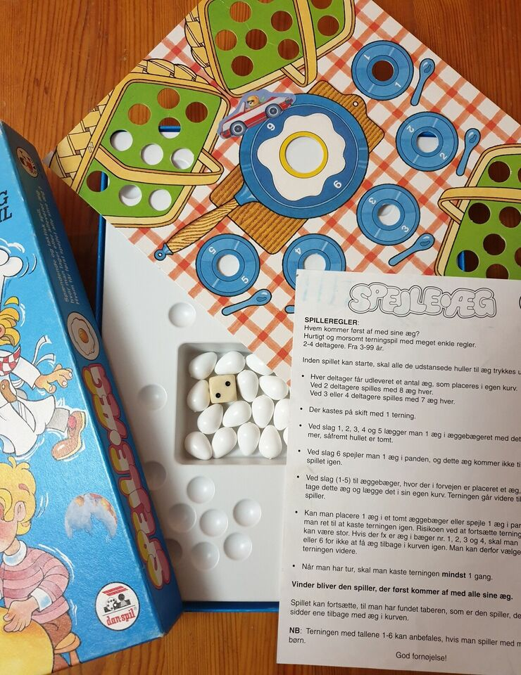 Spejle-æg., Familiespil, brætspil