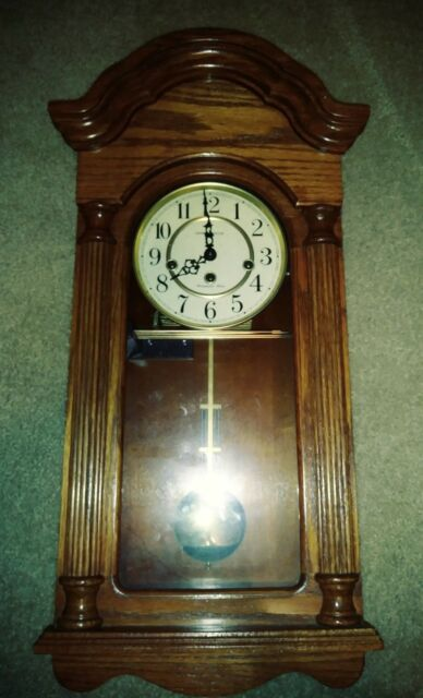 Rare Vintage Howard Miller 620-240 Jordan - Chiming Wall Clock Westminster chime