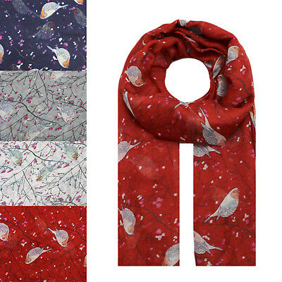 NEW Floral Flower Poppy Print Fashion Scarf Wrap Chiffon Stole Large Light UK