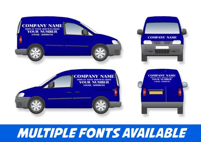 644fc55611 Small Van Signage Full Set Business Vinyl Stickers Graphics for sale ...
