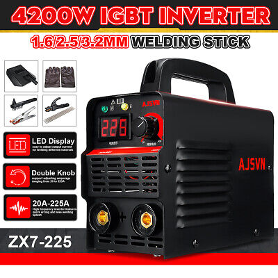 220V 225A 10PCS Electric Welding Machine Arc//MMA Inverter IGBT Welder Kit Set