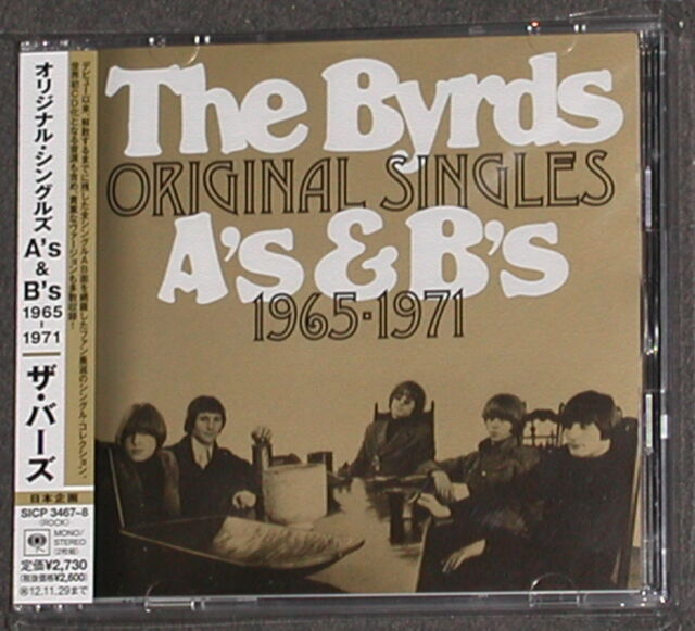 The Byrds Original Singles A 's & B' s 1965-1971 Sony Japon-Import 2-cd MONO Comme neuf