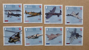 2018-ISLE-OF-MAN-100-YEARS-RAF-SET-OF-8-MINT-STAMPS-MNH