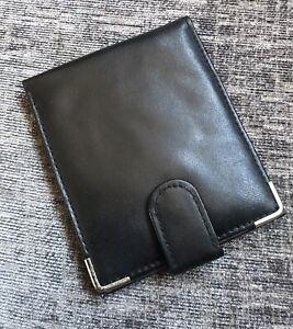 NEW Genuine Leather Classic Bifold Slim Black Men's Multi Pocket Picture Wallet