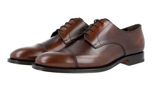 Toe 5 Nouveaux 5 Luxueux Marron Chaussures Prada 8 43 42 Derby Cap 2eb130 xPwzYx0AqF