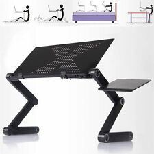 360°Adjustable foldable laptop Notebook Desk Table W/ Fan Hole Stand Bed Tray #